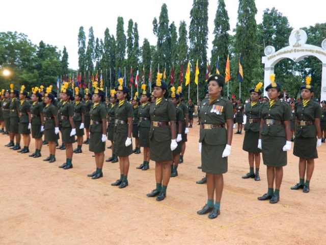 Tamil Woman Soldiers join National Service