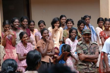 vavuniya_-_ltte_cadres with soldiers how happy and confortable with soldiers