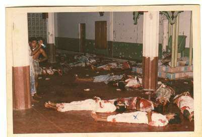 On 03rd August 1990, gun-carrying Tamil Tiger terrorists swooped on Muslim prayers inside the holy KATTANKUDY mosque and butchered 103 Muslim prayers including over 25 small children. The dastardly mass murder provoked condemnation from the international community.