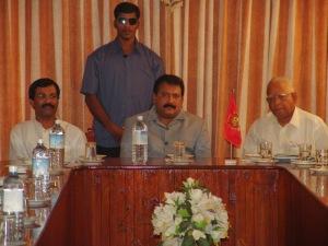 R.Sambanthan with Terrorist leader Prabhakaran